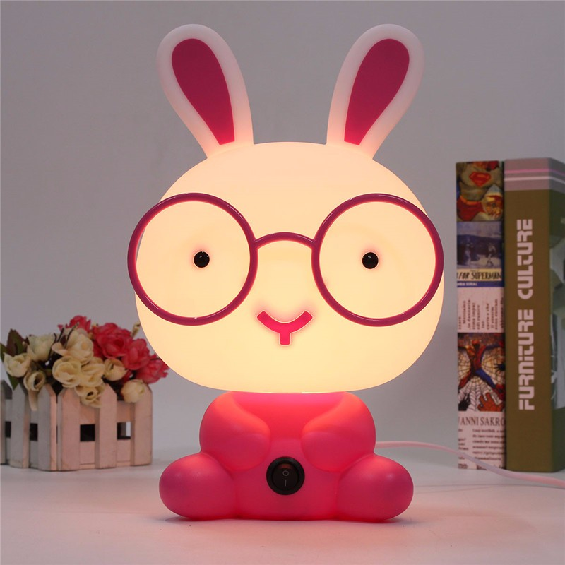 Lovely Baby Kids Children Bedroom Night Sleeping Light Bear Dog Rabbit Panda Cartoon Animal Lamp Best For Gifts EU Plug AC220V(China (Mainland))