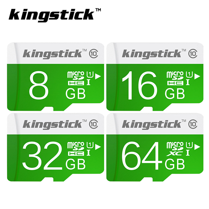 Kingstick green Memory Card Class10 32GB 64GB 16GB micro sd card 8GB 4GB UHS-1 Memory flash card for Smartphone/Tablet freeship(China (Mainland))