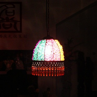 Фотография Boheimia Nepal handmade beaded pendant light fashion vintage  light entrance lights princess lamp free shipping