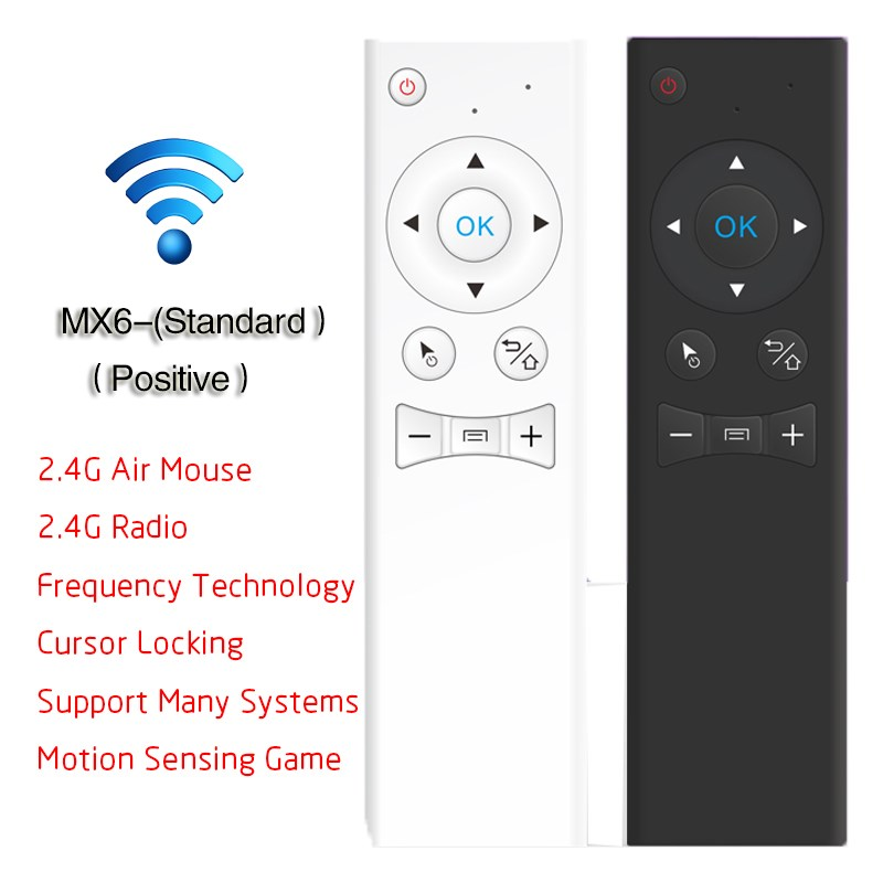 Mx6-Axis 2.4Ghz Wireless Mini Keyboard Standard Fly Air Mouse Motion Sensing Mouse For Network Player Android TV Box Smart TV(China (Mainland))