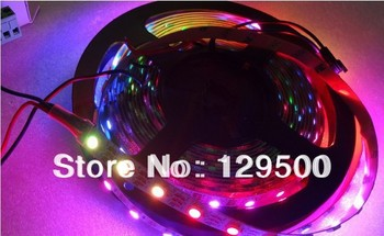 New 4M WS2811 60leds/m WS2811 IC Built-in 5050 SMD RGB LED Chip Non-waterproof DC5V Individually Addressable