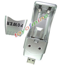 USB Charger for AA AAA 2A 3A Ni-MH Rechargeable Battery Free Shipping(China (Mainland))