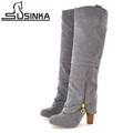 New arrival botas femininas autumn winter high heel women boots knee high boots sexy thick heel