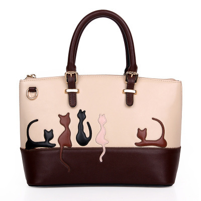 Cartoon animal cat rabbit pattern bag woman famous design cute tote.female messenger bag,47.21141.Free shipping(China (Mainland))