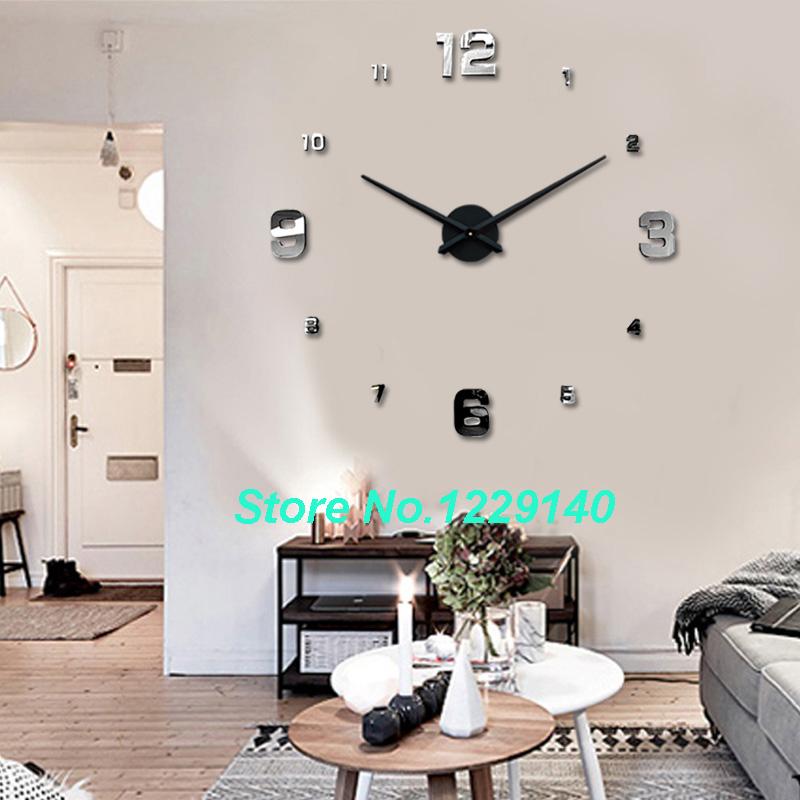 Big Feature Clocks Fashion 3d Big Size Wall Clock