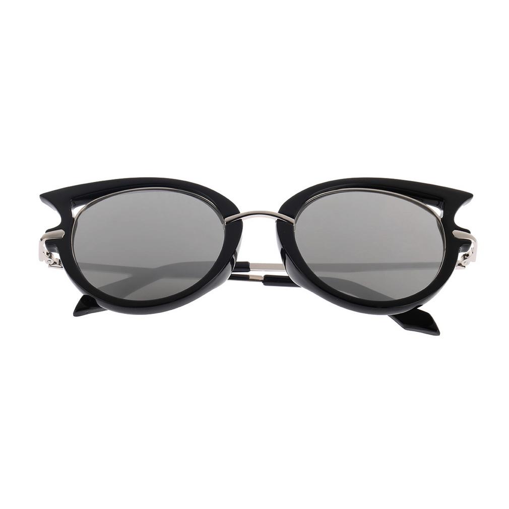 Fashion Retro Metal Frame Sexy Cat Eye Sunglasses for Women Coating Brand vintage sun glasses female