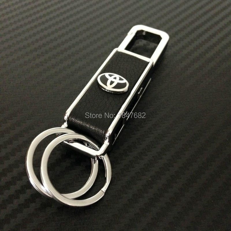 High quality leather Metal bottle opener Key Chain ring for TOYOTA Keychain Vehicle Emblem Auto Badge 4S gift<br><br>Aliexpress