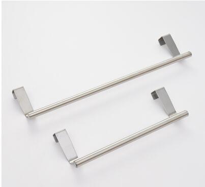 New design multifunction kitchen cabinet door holder single towel rack door back bath towel bar stainless steel storage holders(China (Mainland))