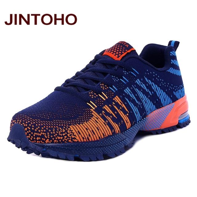 JINTOHO мужчины дышащий повседневная обувь способа высокого качества мужские тренеры ...