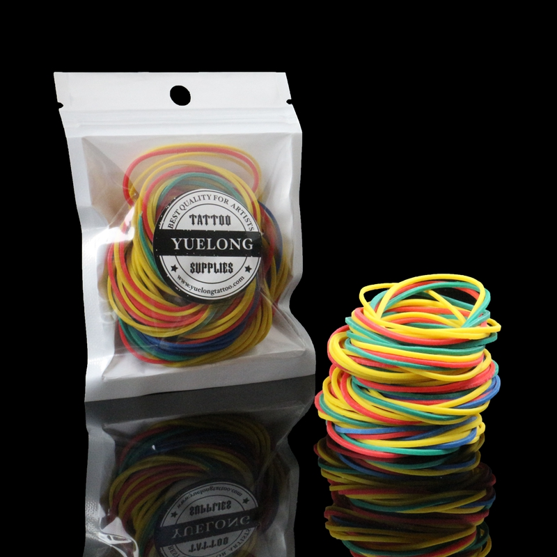 Hot Sell 200Pcs Colorful Elastic Rubber Bands For Tattoo Gun Machine Needles Supplies TA-407A