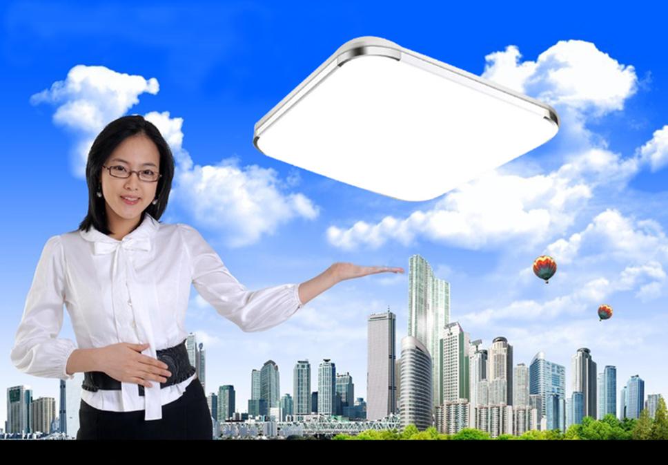 79%OFF Modern LED Apple Ceiling ligh Square 24W 30CM 4PCS led Ceiling Lamp kitchen light bedroom modern livingroom free shipping(China (Mainland))