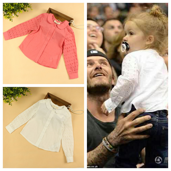 Wholesale 6pcs/lot Baby Girls Long Sleeve Blouse Girls Spring Blouses  Long Sleeve Shirts Two Color<br><br>Aliexpress