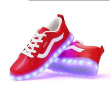 Shoe'N Tale chaussure lumineuse Flat shoes for adult women and men large size 36-44 lights shoes sexy new arrive LED shoes(China (Mainland))