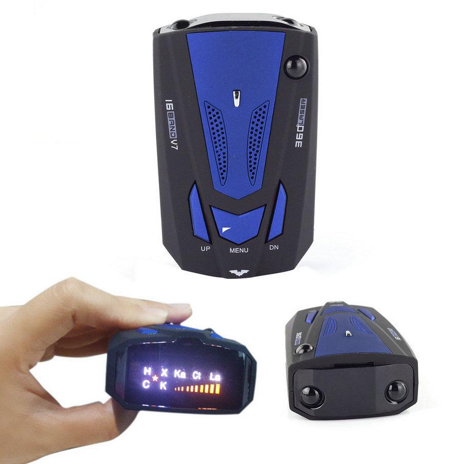 buy new car radar detector 16 band voice alert v7 anti laser radar detector led. Black Bedroom Furniture Sets. Home Design Ideas