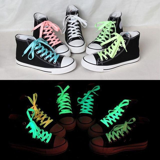 1 шт. 80 см спорт светящиеся шнурки светятся в темноте цвет люминесцентные шнурки ...
