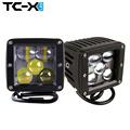 TC X 2PCS 5D 25W LED Spot Light Ultra Long Distance 24V Vehicle SUV Motorcycle Offroads