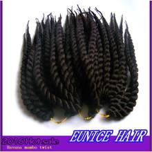 EUNICE HAIR HAVANA MAMBO TWIST 12″ 100% KANEKALON/TOYOKALON(4PIECES/LOT) 1B MAMBO TWIST BRAIDING BULK