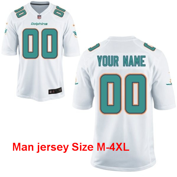 A+++ 100% good feedback Personalized stitched Miami Dolphins Customized Any Name And Number Men Women youth kids(China (Mainland))