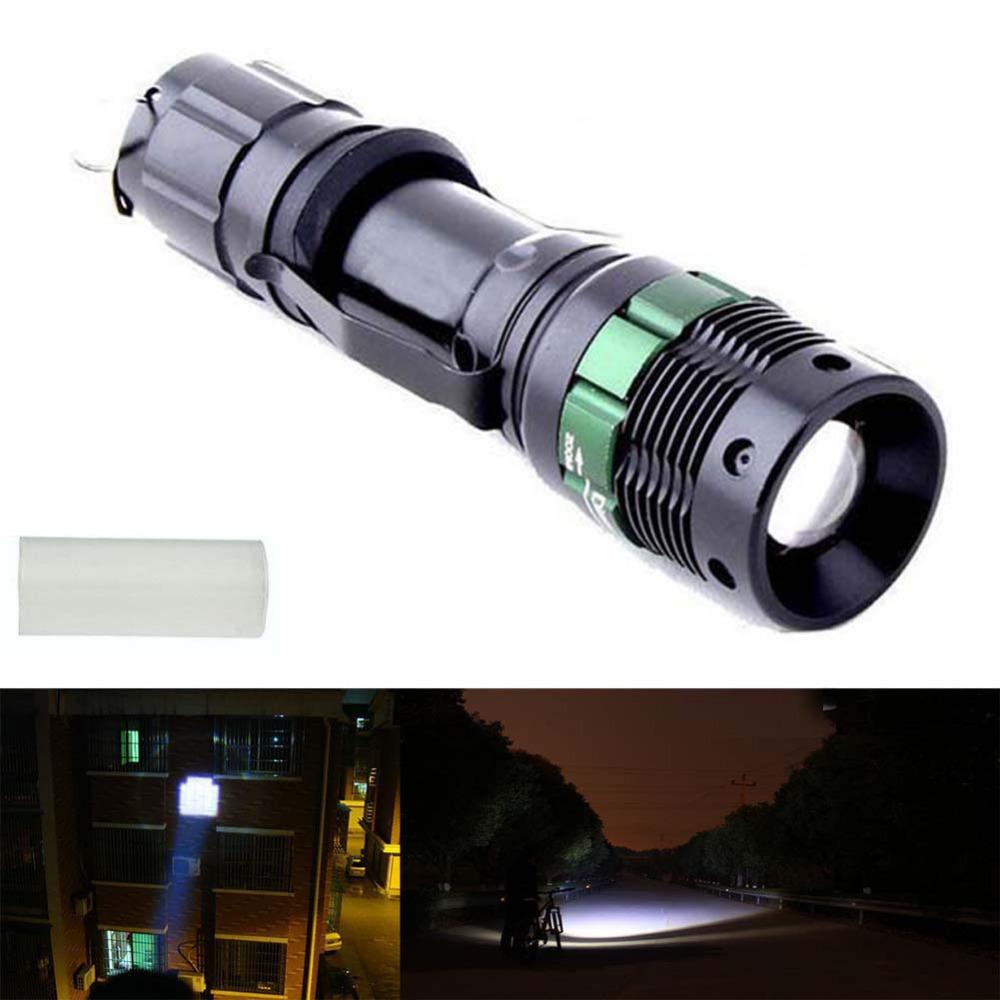 UltraFire 3000 Lumen Zoomable CREE XM-L Q5 LED Flashlight Torch Zoom Lamp Light Black(China (Mainland))