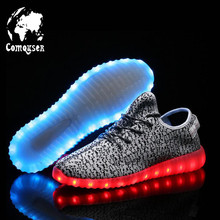 New 2016 Summer Men Casual Shoes,Basket Led Shoes for Adults,Fashion Breathable Led Light Women Shoes,Luminous Chaussure Homme
