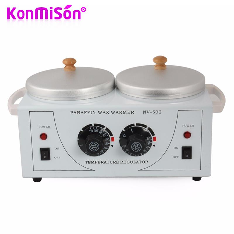 KONMISON Double Paraffine Warmer Wax Heater SPA Hand and Feet Epilator Paraffin Wax Machine Body Depilatory Hair Removal Tool(China (Mainland))