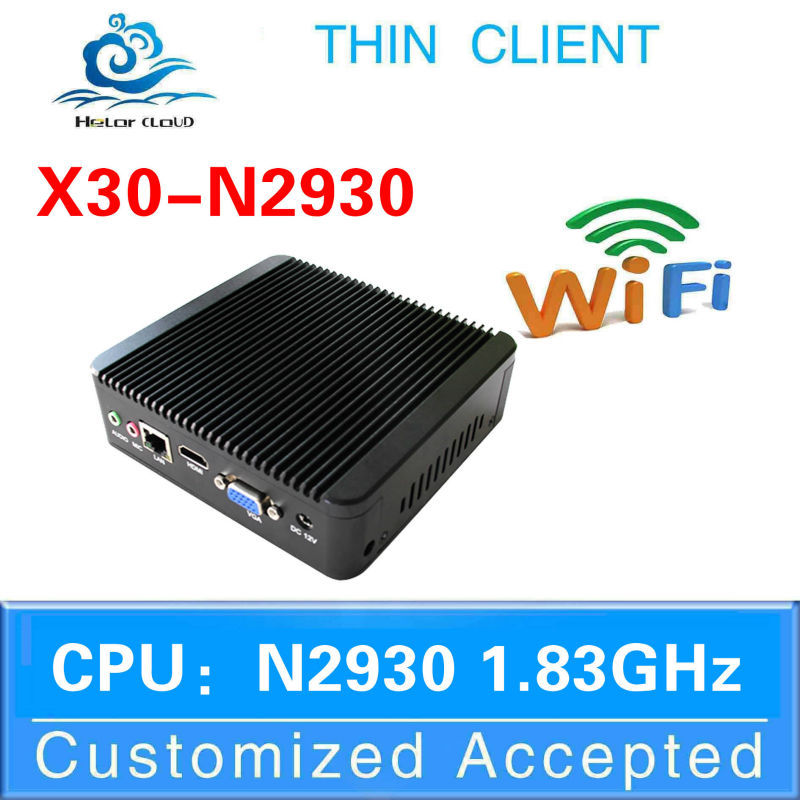 X30-N2930 quad core n2930 1.83GHz with wifi Mini itx desktop computer thin client support screen movies and video conference(China (Mainland))