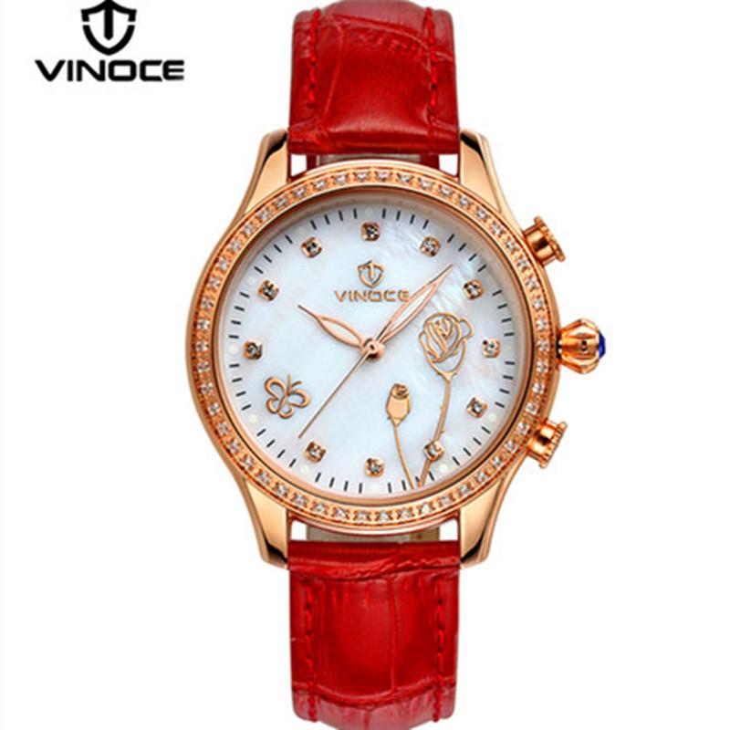 vinoce woman watches Relogio perfume water table belt quartz watch diamond gilded luxury casual fashion brand new steel v6276l(China (Mainland))