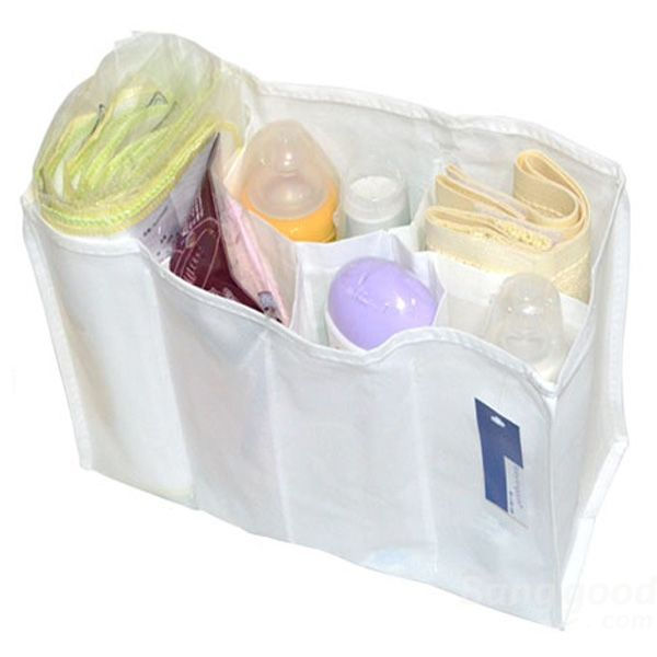 New Hot sale discount Baby Diaper Nappy Changing Storage Bag 7 Liner Cell Divider Mother Bag promotion free shipping(China (Mainland))