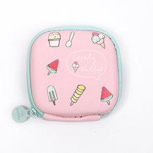 ETya Mulheres Dos Desenhos Animados bolsa de Moedas de Pequeno Carteira Bolsa Da Mudança Bonito fone de Ouvido Saco De Crianças do Sexo Feminino Mini Zipper Coin Chave Linha de Fone de ouvido bolsa(China)
