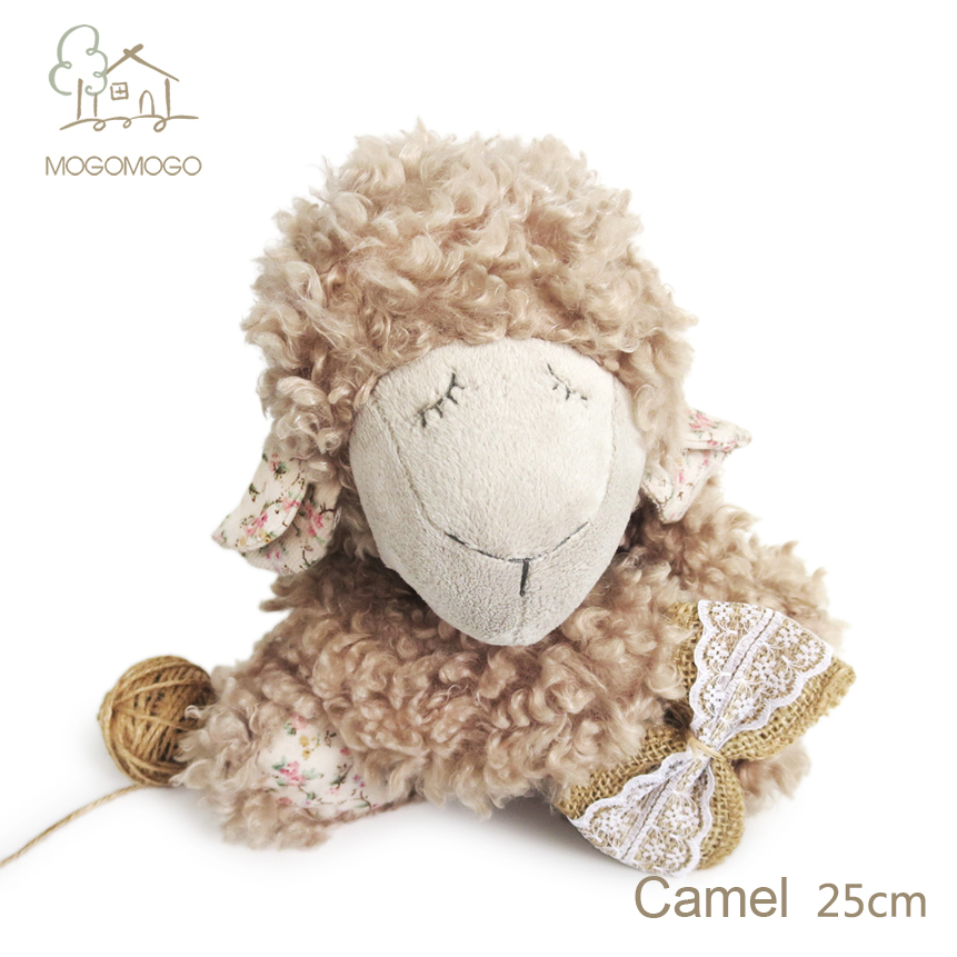 25cm hand-made cute camel sheep plush toys mainly for famous brand,stuffed animals, doll/toy 100% linen plush toys(China (Mainland))