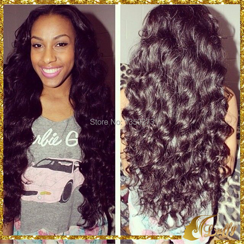 150 Density Malaysian Virgin Full Lace Human hair wigs Lace Front Wigs/Full Lace Deep Wave Wigs For Black Women(China (Mainland))