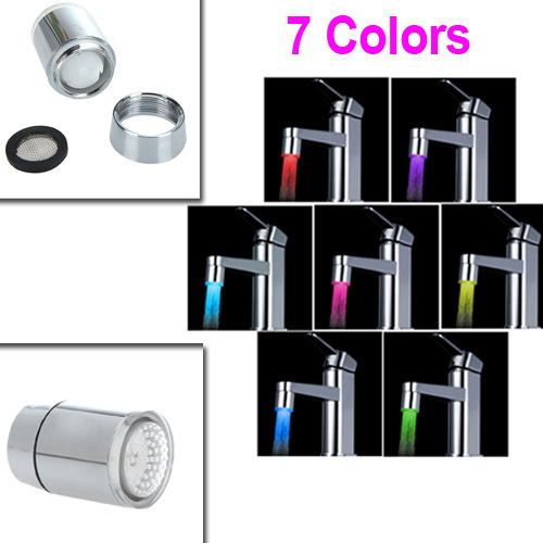 7 Colors Changing Glow LED Light Water Stream Faucet Tap - chengyi_0628 store