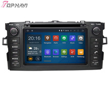 Free Shipping Quad Core Android 4.4 Car Radio For TOYOTA AURIS/COROLLA HATCHBACK/COROLLA 2012- With Wifi BT GPS Map16 GB Flash(China (Mainland))