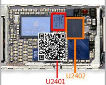 5 пар/лот = 10 шт. Оригинальный новый для iPhone 6 для iphone6 plus 6 + 6 P сенсорный экран управления IC U2402 343S0694 + U2401 BCM5976(China (Mainland))