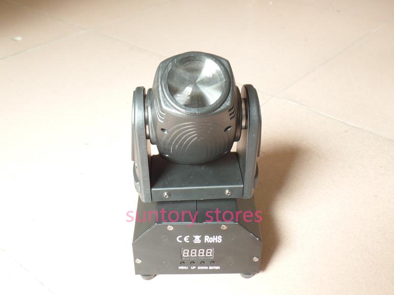 Free Shipping 10W 4in1 RGBW Mini Led Beam Moving Head Wash Light DMX DJ Disco Projector Sound Party Club Strobe Lights(China (Mainland))
