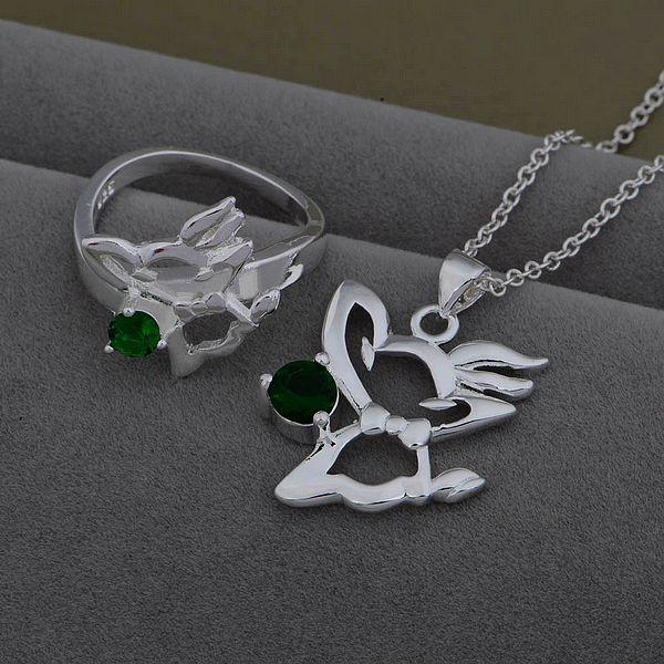 AS535 Trendy silver Jewelry Sets Ring 481 + Necklace 933 /axpajowa bymakpta - jewelry2013 store