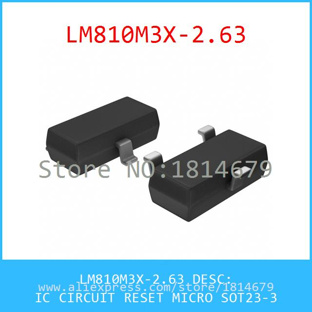 Voltage Regulator LM810M3X-2.63 IC CIRCUIT RESET MICRO SOT23-3 810 LM810M3X 3pcs(China (Mainland))