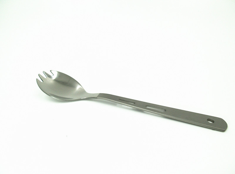 Pure titanium spork outdoor camping products titanium tableware(China (Mainland))