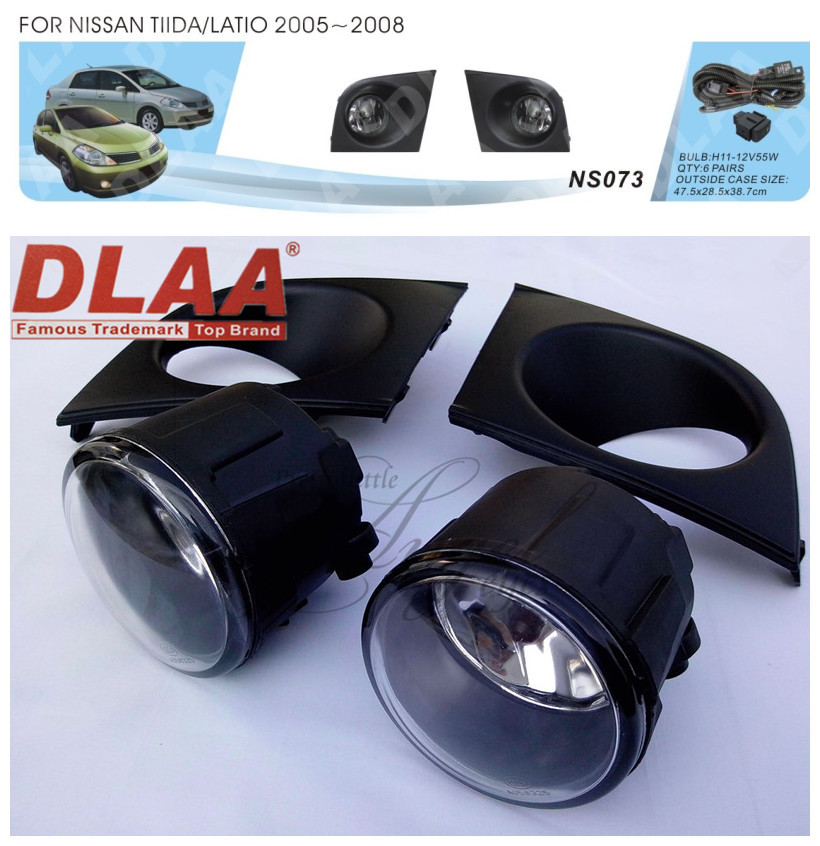 Фотография Car fog lamps, light source, safety DLAA fog lamps, suitable for  NISSAN TIIDA  LATIO  2005-2008  H11 12 V 55 w