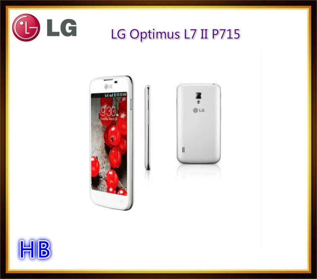 Unlocked LG Optimus L7 II P715 Dual SIM Mobile phone With Dual core 4G ROM GPS WIFI Cell Phone& Free shipping & Refurbished(China (Mainland))
