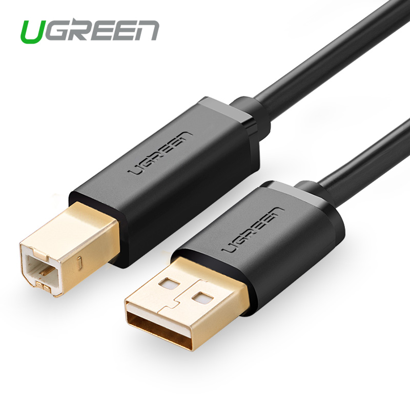 Ugreen USB 2.0 Type A Male to B Male Printer Cable Sync Data Charger Cable 1.5m Free Shipping(China (Mainland))