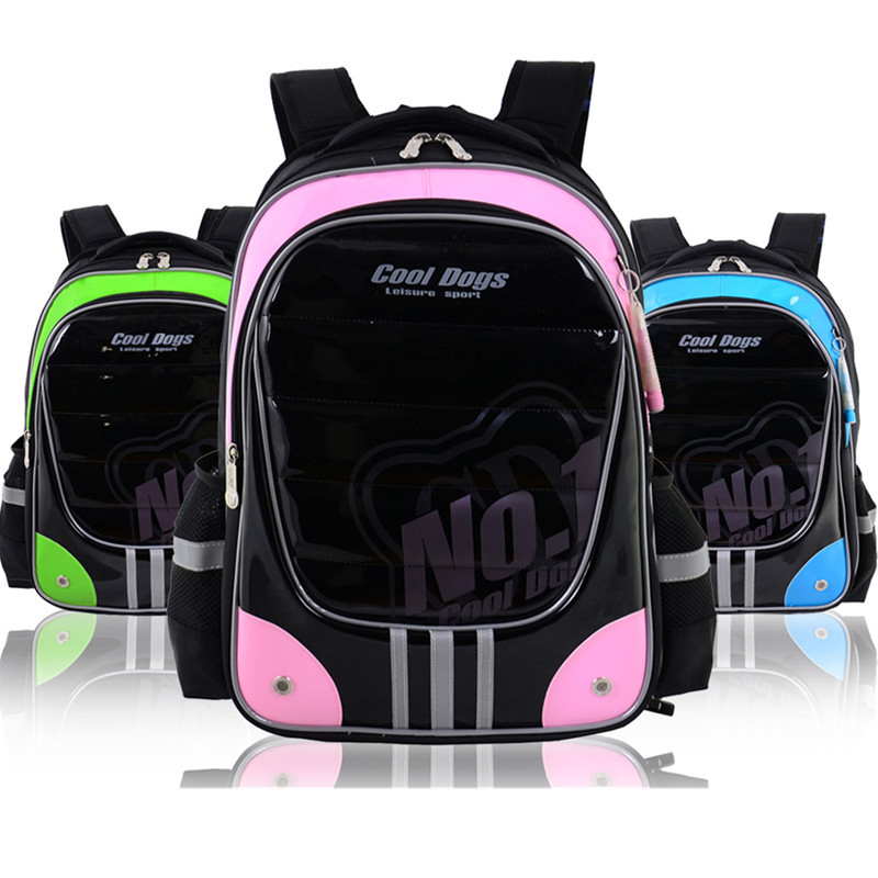 2014 New orthopedic primary school bag children/kids double shoulder backpack grade/class 3-6 - Schoolbags Monopoly store