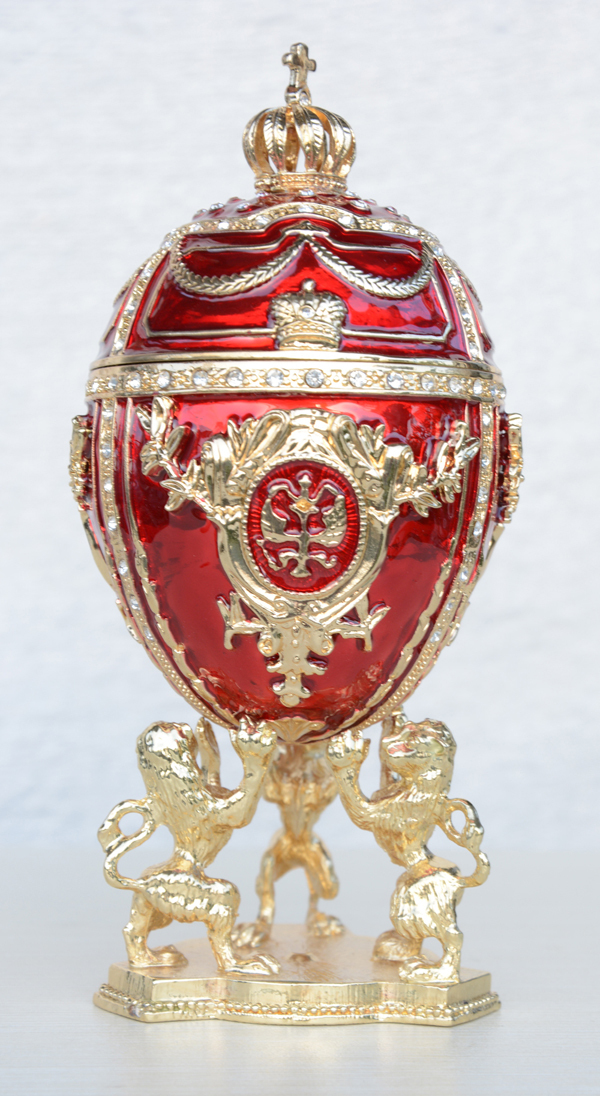 2015New Royal Imperial Russian Faberge Egg-Enameled Crystal Jewelry Trinket Box Unique Home Decor Metal Figurines metal giftware(China (Mainland))