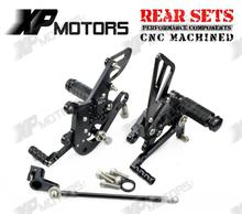CNC Race Adjustable Foot pegs Rearset Rear Sets Aprilia Tuono1000 V4 R 2011 2012 2013 2014 Black - Billy Huangy's store