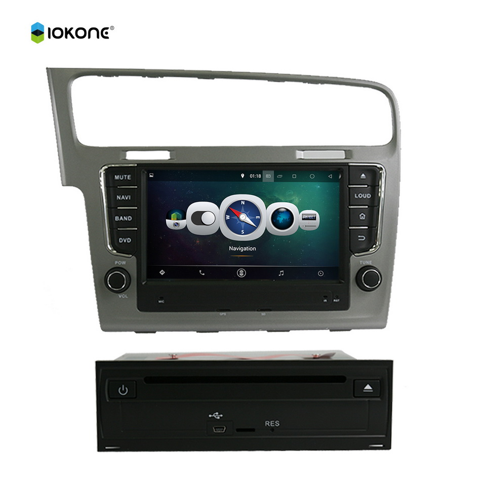 """8"""" Android Quad core HD mirror link Car DVD Radio CD Player Stereo for VW Golf 7 2013 with rotating UI RDS WIFI GPS navi CANBUS(China (Mainland))"""