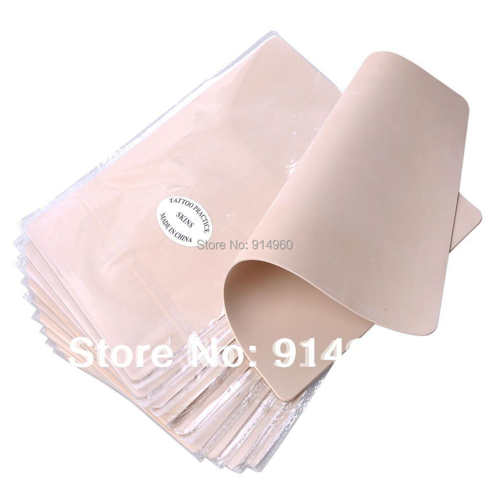 10pcs Blank Tattoo Practice Skin Sheet for Needle Machine Supply Kit Plain(China (Mainland))