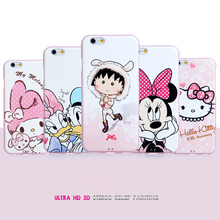 """2016 New For Apple iPhone 6 6S 4.7"""" Ultra HD 3D Stereo Relief Painting Rear Cover Mobile Phone Protective Back Case For Lady"""