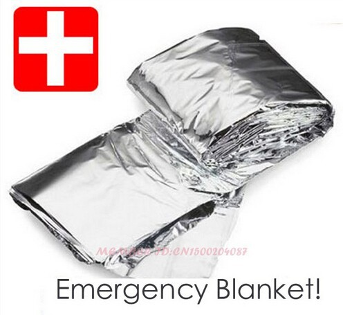 5 pcs Waterproof Emergency Survival Foil Thermal First Aid Rescue Life-saving Blanket Military Blanket(China (Mainland))