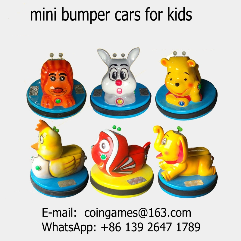 2016 New Amusement Park Equipment Kids Coin Operated Arcade Game Machine Children Mini Animal Battery Bumper Cars(China (Mainland))