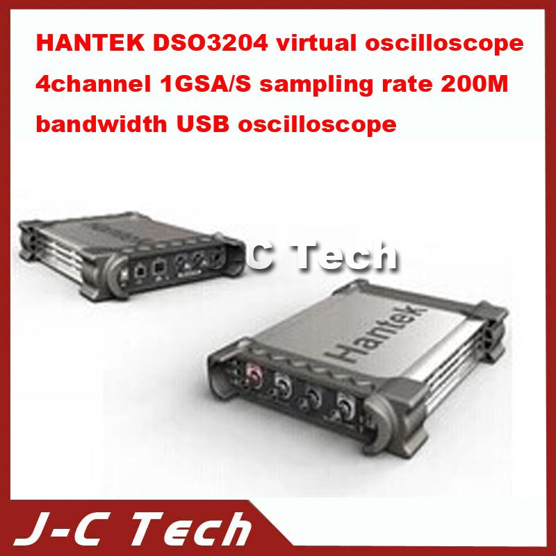 2015 high quality Hantek DSO3204 Virtual Oscilloscope 4 Channel 1GSA/S Sampling Rate 200MHz Bandwidth USB Oscilloscope(China (Mainland))